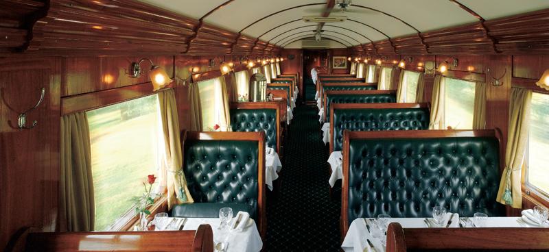 Spisevogn- togrejse fra Pretoria til Cape Town
