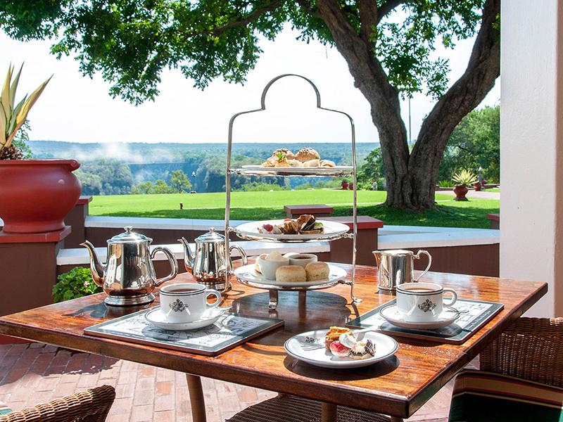 afternoon tea på Victoria Falls Hotel