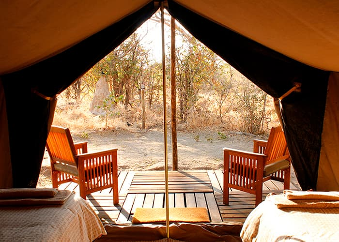 Bush-camp i Botswana