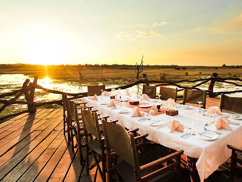 middag ved Luangwa-floden