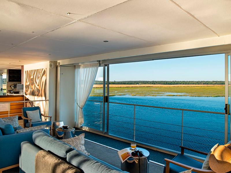 Lounge på Chobe-floden