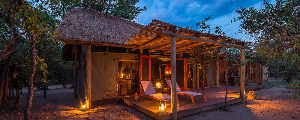 Safaricamp i Luangwa nationalpark