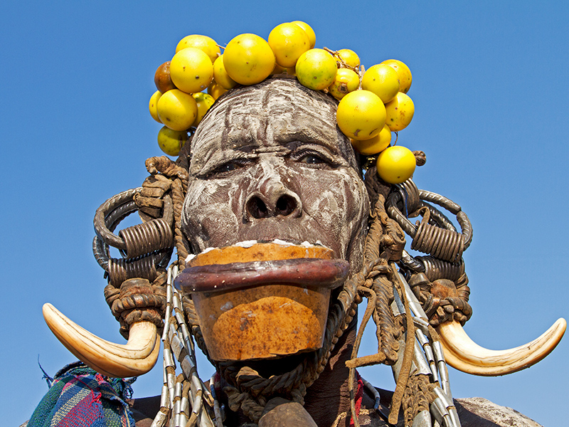 Kultursafari - Mursi-kvinde