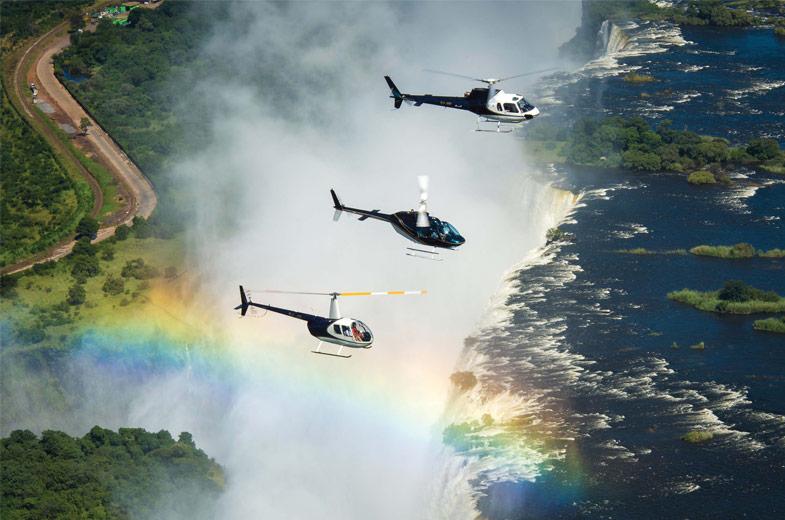 helikoptertur over victoria falls