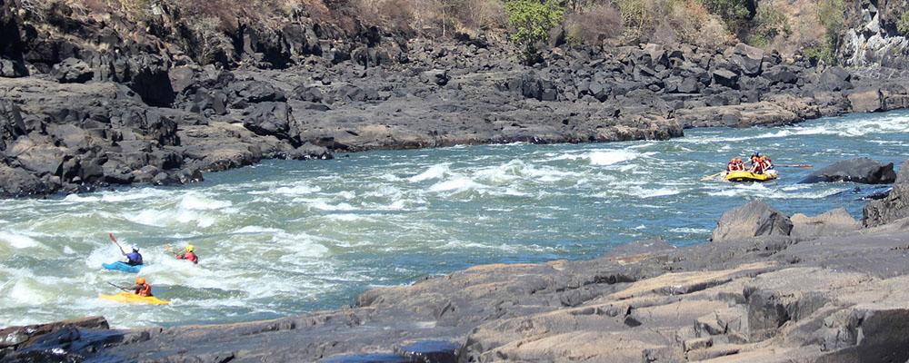 Zambia - White River Rafting på Zambezi
